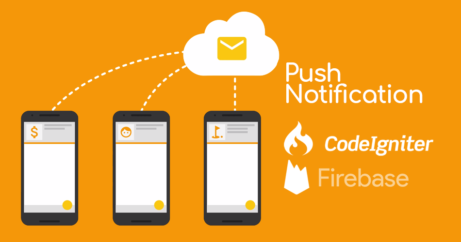 This image contain firebase and codeigniter logo